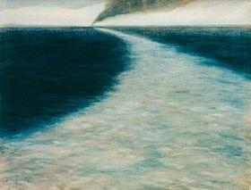 Léon Spilliaert: Marine avec sillage (Meer mit Kielwasser)