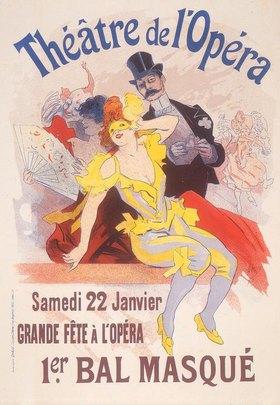 Jules Cheret: Maskenball Opéra Paris / Plakat Chéret