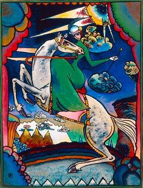 Wassily Kandinsky: Amazone in den Bergen