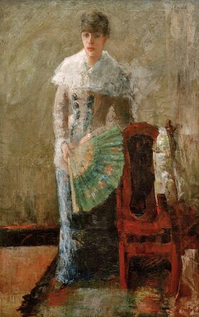 James Ensor: Dame mit Fächer