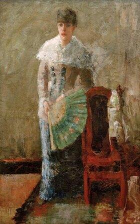 James Ensor: Lady with a fan