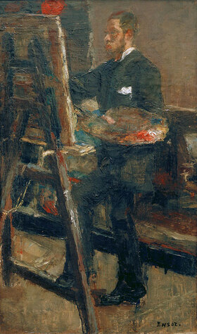 James Ensor: Portrait de Willy Finch au Chevalet