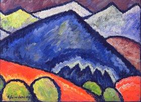 Alexej von Jawlensky: Blaue Berge, 1912