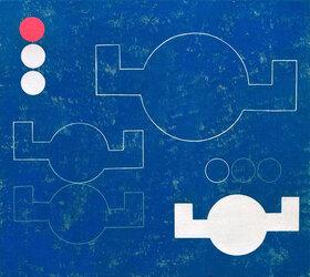 Sophie Taeuber-Arp: Composition à cercles-à-bras angulaires en lignes et plans
