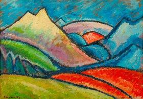 Unbekannter Künstler: Landschaft Oberstdorf , 1912 (Jawlensky Fälschung)