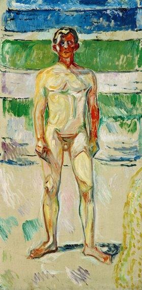 Edvard Munch: Badender Knabe