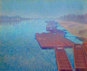 Charles Guilloux: La Seine, (Die Seine bei Nacht)