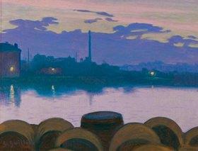 Charles Guilloux: Paysage fluvial (Flußlandschaft)