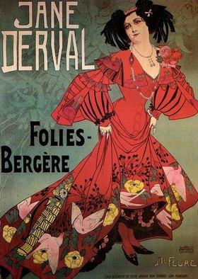 Georges de Feure: Folies-Bergère / Jane Derval