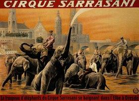 Anonym: Plakat des Zirkus Sarrasani