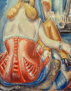 Paul Kleinschmidt: Frau in rosa Korsett