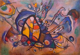 Wassily Kandinsky: Abstrakte Komposition, Feuervogel, 1917.Öl auf Leinwand, 68 × 97,6 cm, Zürich, Sammlung Herman Berninger