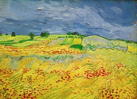 Vincent van Gogh: Wheat field with stormy sky