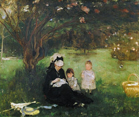 Berthe Morisot: Flieder in Maurecourt