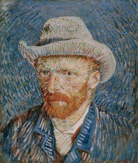 Vincent van Gogh: Vincent van Gogh Self-portrait with grey felt hat, Auvers-sur-Oise, 1890 Oil on canvas, 44 × 37.5cm.Vincent van Gogh Stichting
