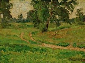 Carl Ludwig Kaaz: Schwitters, Kurt 1887?1948.?A S Landschaft 1. Hochsommer?,1914/16.Öl auf Leinwand, 45 × 60,4 cm.Augsburg, Privatbesitz