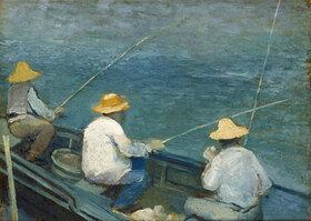Gustave Caillebotte: Trois pêcheurs en barque