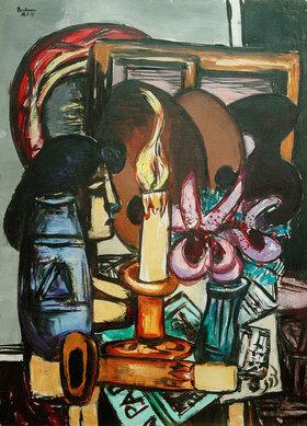 Max Beckmann: Stillleben mit zwei großen Kerzen