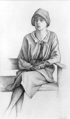 Alexander Kanoldt: Sitzendes Mädchen