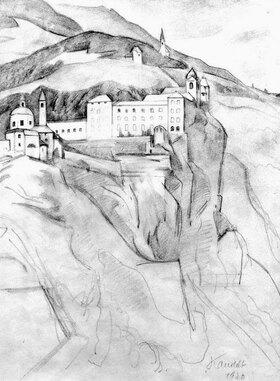 Alexander Kanoldt: Blick auf Sabiona
