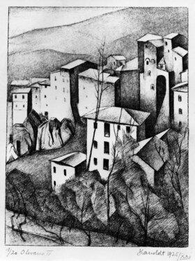 Alexander Kanoldt: Olevano IV