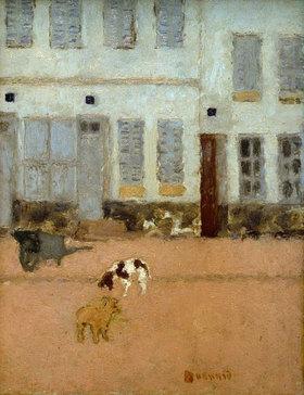 Pierre Bonnard: Hunde auf der Straße in Eragny-sur-Oise