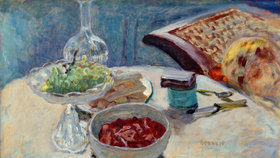 Pierre Bonnard: Nature morte à la figure (Marthe Bonnard)