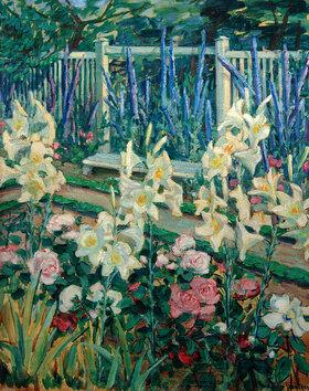 Julie Wolfthorn: Lilien im Garten Muthesius