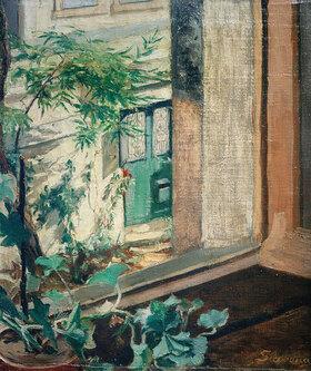 Maria Slavona: Blick aus dem Atelierfenster