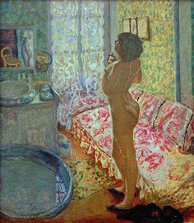 Pierre Bonnard: Das Toilettenzimmer mit rosafarbenem  Kanapee