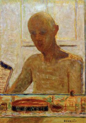 Pierre Bonnard: Portrait de l'artiste dans la glace du cabinte de toilette (Autoportrait)