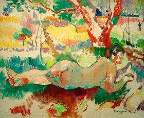 Henri Manguin: Rückenakt unter Bäumen, Villa Demière