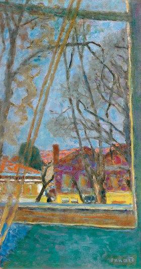 Pierre Bonnard: Blick durch ein Fenster auf eine Landschaft