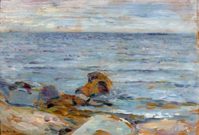 Edvard Munch: AsgardstrandMunch, Edvard 1863?1944, Asgardstrand, 1888-90, Öl auf Holz, 24,7 × 35,2 cm