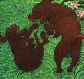 Pierre Bonnard: Zwei spielende Hunde