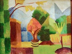 August Macke: Garten am Thuner See