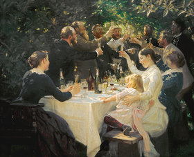 Peter Severin Kroyer: Hip, Hip, Hurra!  Künstlerfest in Skagen