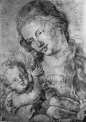 Albrecht Dürer: Half-length Madonna and Child , c