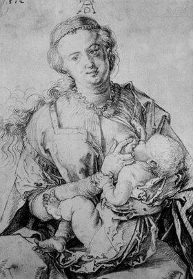 Albrecht Dürer: Maria, das Kind nährend