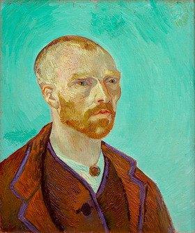 Vincent van Gogh: Selbstbildnis, Paul Gauguin gewidmet
