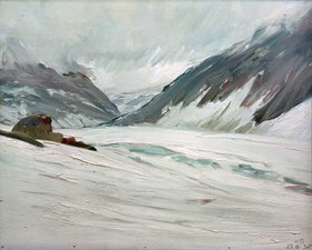 Kurt Schwitters: Djupvand med sne (Djupvand mit Schnee)