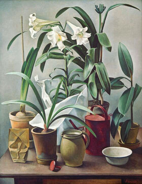 Alexander Kanoldt: Blumenstilleben mit Lilie