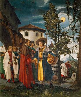 Albrecht Altdorfer: Abschied des heiligen Florian, um 1525?