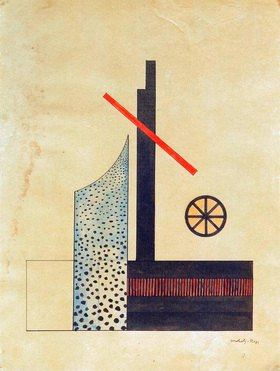 László Moholy-Nagy: Komposition mit Rad