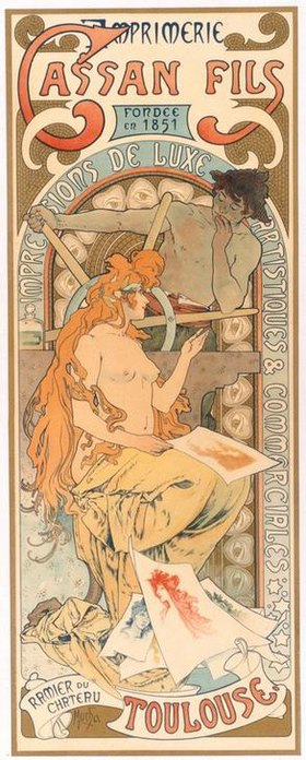 Alfons Mucha: Imprimerie Cassan Fils