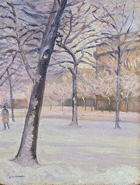 Gustave Caillebotte: Parc sous la neige, Paris