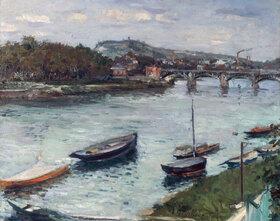 Gustave Caillebotte: La berge et le pont d'Argenteuil