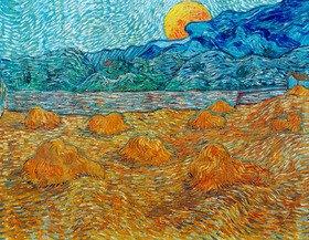 Vincent van Gogh: Abendlandschaft mit Mond. Saint-Rémy-de-Provence