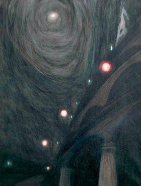 Léon Spilliaert: Clair de lune et lumières (Mondschein und Lichter)