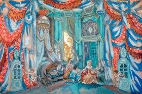 Sergei Jurjewitsch Sudeikin: Bühnenbildentwurf zu Figaros Hochzeit